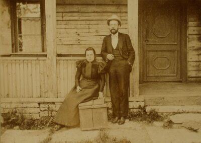 J. Poska abikaasaga 1895 või 1896